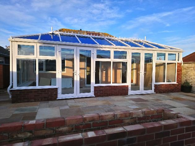 Double Edwardian uPVC Conservatory in Peacehaven, East Sussex