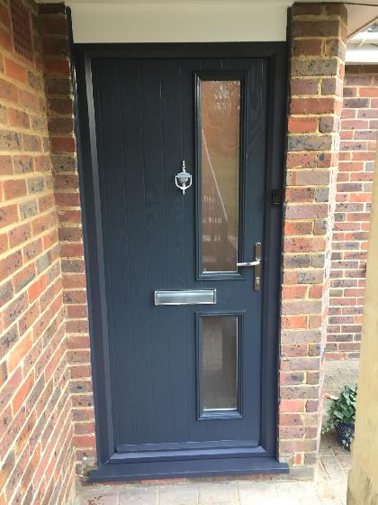 Anthracite grey Composite Door, Saltdean, East Sussex