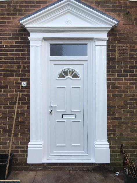 Victorian Door surround and uPVC Door in Brighton East Sussex